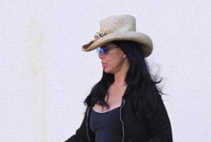 CHER Sporting Her New Cowboy Hat